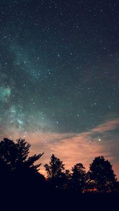 sky-night-star-dark-mountain-cloud-green-blue iphone 6 plus...
