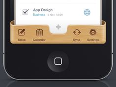 Nice wood background piece with etched/inset icons on iPhone