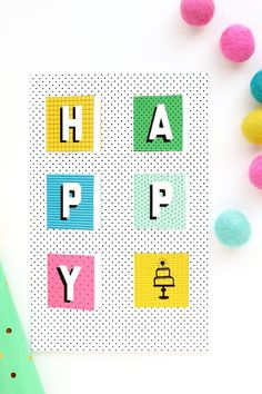 PARTY | DIY: Pop-Up Birthday Card (with free printable!)