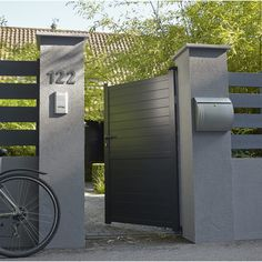 1000 images about portail on pinterest fence sliding for Portillon jardin metal