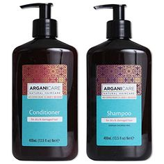 Arganicare Shampoo and Conditioner for Dry Hair Enriched with Organic Argan Oil and Shea Butter  Value Pack 135 Fluid Ounce Each -- More info could be found at the image url.