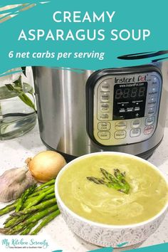 An easy, creamy asparagus soup made in your Instant Pot. This comforting soup can be served either hot or cold, so it is perfect for enjoying all year round! Easy Main Dish Recipes, Best Easy Dinner Recipes, Best Breakfast Recipes, Side Dishes Easy, Easy Meals, Southern Cooking Recipes, Cajun Recipes, Chili Recipes, Low Carb Recipes