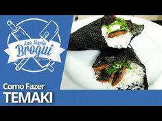 COMO FAZER TEMAKI ! ( Salmão com Cream cheese e Sakebi !!) - YouTube