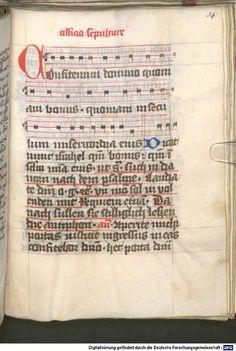 Liber ordinarius der Cistercienserschwestern von Kommunion, letzter Ölung, Tod und Leichenfeier 1439  Cgm 78  Folio 54r