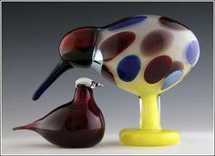 My Owl Barn: Oiva Toikka Glass Bird Collection Bird Design, Glass Design, Decoration, Art Decor, Rare Birds, Glass Animals, Glass Birds, Painted Paper, Vintage Pottery