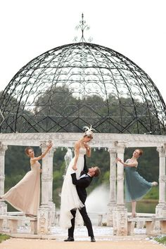 Ballet Wedding.  Forget everything else... I want to do this.  Within the frame of a Hebrew wedding yes, but working ballet into my wedding would just be plain awesome.