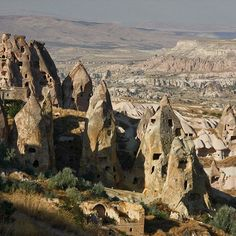 """For more than a thousand years, people have made their homes in the soft rock of Cappadocia - and over time, erosion has shaped this incredible landscape. """"The site became a religious refuge during the early days of Christianity. By the fourth century Christians fleeing Rome's persecution had arrived in some numbers and established monastic communities here. The monks excavated extensive dwellings and monasteries and created Byzantine frescoed paintings in cave chapels beginning in the…"""