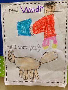 Chalk Talk: A Kindergarten Blog: needs and wants