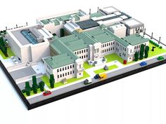 David Bowman rendered a LEGO version of the Boston Museum of Fine Arts. The museum is actually quite complex, and even includes exterior greenery.