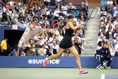 Maria Sharapova during her third-round match against Sabine Lisicki. - Corey Silvia /usopen.org