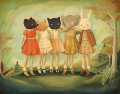 Bess, Maude, Frances, Matilda & Maryanne Print 10x8. $16.00, via Etsy.