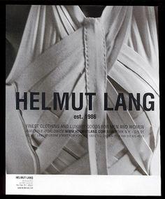 7 Ways Helmut Lang Changed Fashion Helmut Lang, Carl Zeiss Jena, Fashion Details, Fashion Design, Ad Fashion, Fashion Brands, Guy Bourdin, Acid House, Campaign