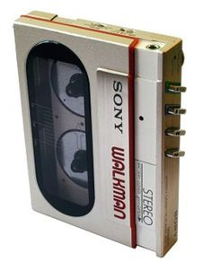 Sony expanded to accept cassette tape // New Electronic Gadgets, Electronic Music, Hoovers, Old Technology, Cool Electronics, Packaging, Prop Design, Cassette Tape, Retro Design
