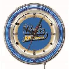UCLA Bruins Large Logo Neon Clock