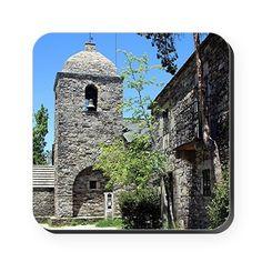 Church of Santa Maria, OCebreiro, Square Coaster on CafePress.com