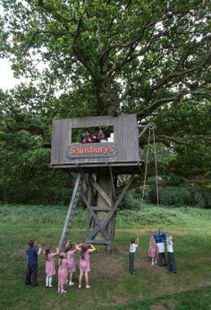 Treehouse Drawings | Shedworking: Sainsburys new popup tree house shop