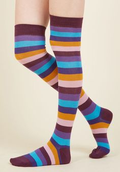 Show Your True Stripes Thigh Highs, @ModCloth