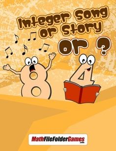 Integer Song or Story or {Integer Activity}  https://www.teacherspayteachers.com/Product/Integer-Song-or-Story-or-Integer-Activity-1763212