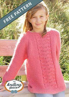Ravelry: Clover pattern by DROPS design Free Aran Knitting Patterns, Knitting Designs, Free Knitting, Knitting Tutorials, Lace Patterns, Scarf Patterns, Knitting For Kids, Girls Sweaters, Drops Design