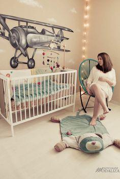 photo grossesse douceur blanc chambre de bebe dentelle peluche tapis eveil tag…