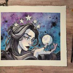 Another artist I love: Danica Sills http://danicasills.storenvy.com Europa's Moon $14.00