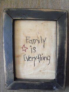 Primitive Stitchery Picture Framed Family is by DarkForestFolkarts, $15.00