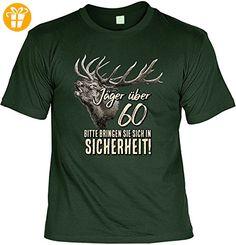 Lustiges Geburtstagsgeschenk Leiberl für Männer T-Shirt mit Urkunde Jäger über 60 Bitte bringen Sie sich in Sicherheit! Leibal zum Geburtstag (*Partner-Link)