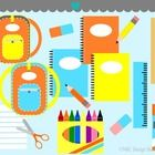 This set includes 15 Back To School Supplies clip art images provided in separate PNG and JPG formats. All images are 300 dpi High Resolution.   Yo...