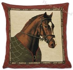 Bridled Chestnut Horse Tapestry Pillow $84.00