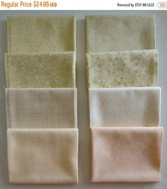 NEW YEAR SALE Basically Patrick Lose by Rjr Fabrics~Cotton Fabric~Ivory/Peach~Fat Quarter Bundle of 8~Fast Shipping Fq537