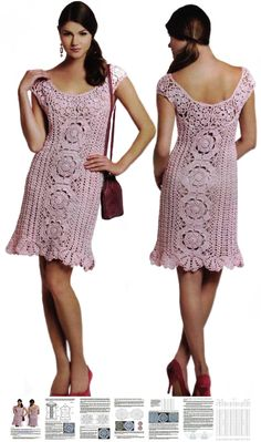 This listing is for the crochet pattern sent as a PDF file - not for a physical item.  Materials for achieving best result: 100 % cotton yarn. You will receive detailed written instructions in ENGLISH with all graphical diagrams for crocheting this beautiful dress. The description of all charted rows is included. All crochet chart symbols are translated into English, German and Danish and measurements of all parts of the dress are stated in inches and cm.  Screen shots of the PDF file show…