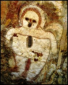 Native Folklore and the Star People - Painted by the Aboriginal peoples from Kimberley, Australia Circa 5,000 years old
