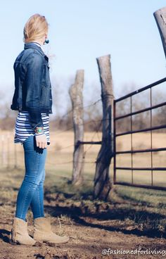 14ef64f08f3bd fringe cowgirl boots outfit with denim jacket and skinny jeans