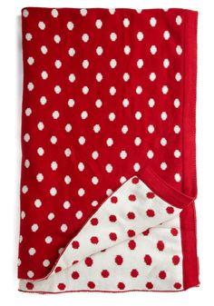Cozy Spot to Sit Throw Blanket #red #polkadot #blanket