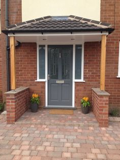 Richmond Style Front Door Painted In Gallant Grey By Dulux Porch Canopy Supported
