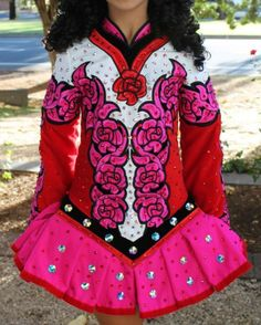 Irish Dance Solo Dress by Celtic Star - Roses! How cute!