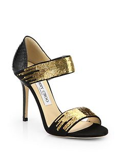 d92932dcde2f Jimmy Choo  Tallow  Snakeskin Sequined Leather Sandals €766 Spring 2014   JimmyChoo