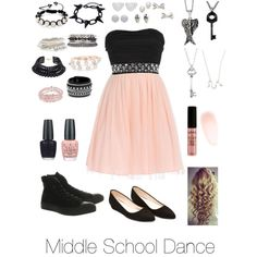 The outfit I was wearing when I went to our middle school dance with Dean back when we were dating Middle School Dance Dresses, School Dresses, Grad Dresses, Middle School Fashion, Middle School Outfits, School Looks, Dance Outfits, Cute Outfits, Rock Outfits
