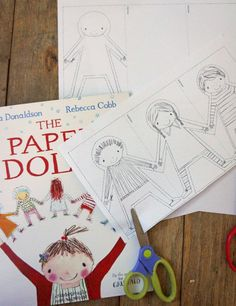 Paper doll chain, Paper dolls and Paper doll template