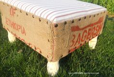 ottoman! totally want to make one out of bag of rice from india