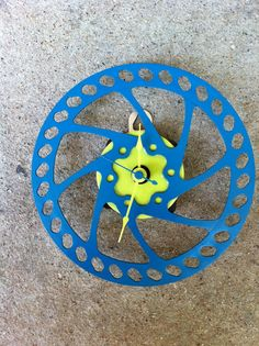 bike gear turned into clock