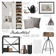 """""""Industrial Home Decor"""" by c-silla ❤ liked on Polyvore featuring interior, interiors, interior design, home, home decor, interior decorating, Arteriors, Lundia, Crate and Barrel and Bloomingville"""