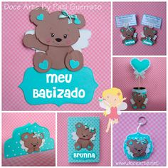Doce Arte by Pati Guerrato Baby Shower, Lily, Christmas Ornaments, Holiday Decor, Disney, Crafts, Tapas, Babies, How To Make Crafts