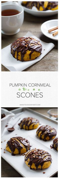 Pumpkin Cornmeal Scones | www.kitchenconfidante.com