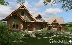 *Shutters*  11063 Hot Springs Cottage House Plan, Front Elevation, Mountain House Plans