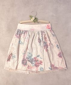 White & Red Floral Blair Skirt - Toddler & Girls