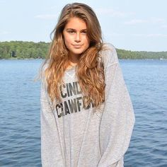 """The supermodel posted this photo of Kaia, with the caption, """"When your daughter steals your clothes . . ."""""""