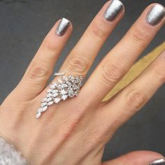 Parking lot style in our cascading marquise Cz ring L. Gold Rings Jewelry, Statement Jewelry, Bridal Jewelry, Diamond Jewelry, Diamond Rings, Emerald Rings, Ruby Rings, Oval Rings, Diamond Studs