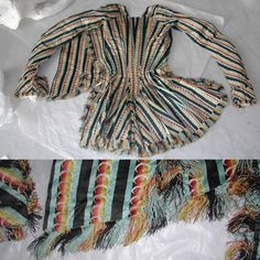 #GeorgianJanuary Day #4 Clothing. Over the years I have made many visits to costume collections for study. As well as taking photographs and making notes I also do detailed drawings and sometimes take scaled down patterns too. Here is a beautiful late 18th century silk jacket from the Museum of Costume and Textiles in Nottingham. I love the unusual silk and the perfectly matched fringing. #Georgiandress #18thcenturyfashion #18thcenturysilk @dames_a_la_mode