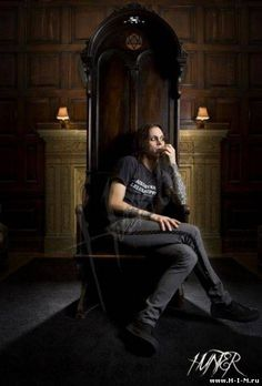 "Ville Valo; I love this picture - how amazing is  his ""throne"""